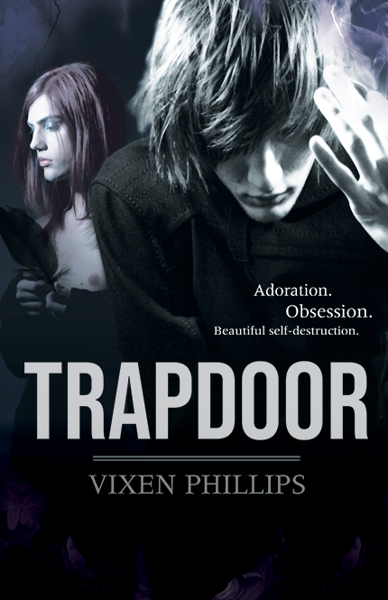 Cover of Trapdoor: a contemporary dark lyrical new adult novel featuring queer characters, set in late 90s Melbourne